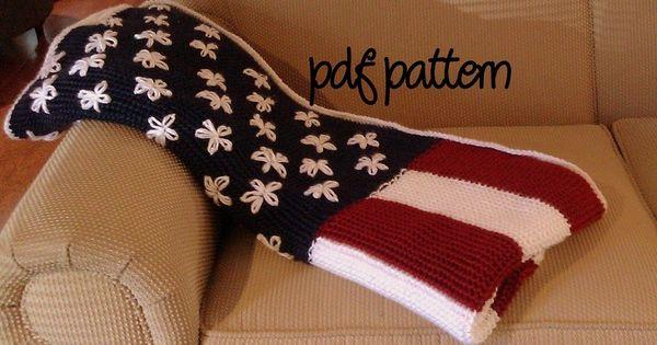 Crochet American Flag Scarf Pattern : American Flag Pattern crochet-ideas Crochet Pinterest ...
