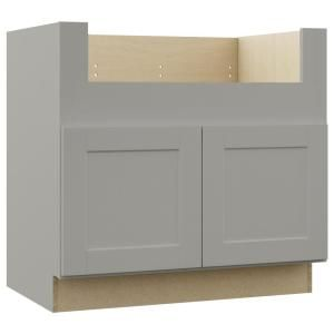 Hampton Bay Shaker Assembled 36x34 5x24 In Farmhouse Apron Front Sink Base Kitchen Cabinet In Dove Gray Ksbd36 Sdv Apron Front Sink Trendy Farmhouse Kitchen Grey Cabinets
