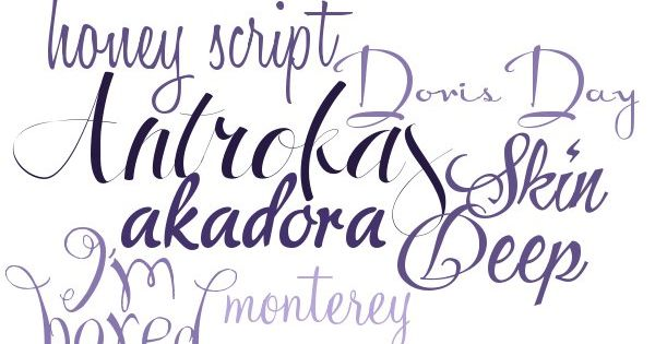 Modern calligraphy fonts free w links make