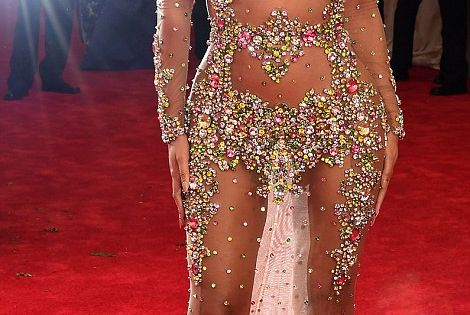 Queen Bey: The singer, wearing a Givenchy creation, trumped all her fellow