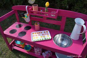 Sommerkuche Bauen Matschkuche Bauen Wasserspielkuche Kinderspiel Kinderkuche Outdoorkuche Kinder Spiel Kuche Kinder Garten Spielen Kinderspielplatz