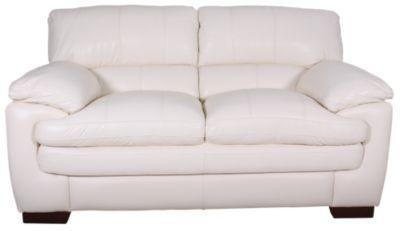 La Z Boy Dexter Ivory 100 Leather Loveseat Homemakers Furniture