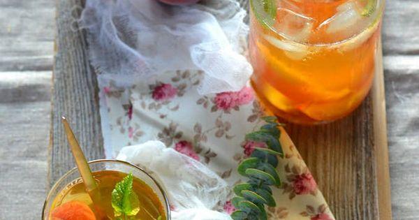 ice tea maison la p che et menthe vegan sans gluten recettes sans gluten pinterest. Black Bedroom Furniture Sets. Home Design Ideas