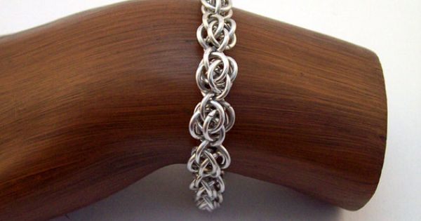 Basket Weave Chainmaille Tutorial : Chainmaille bracelet sweet pea weave by