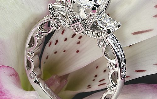 Verragio Bead-Set Princess 3 Stone Engagement Ring-- so pretty