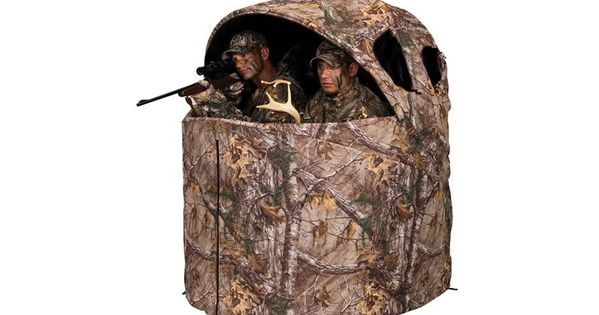 Realtree Edge Camo Pattern Durashell Plus Fabric Shell Ideal For Firearm And Crossbow Hunting No Assembly Required 3 Tent Chair Blinds For Sale Hunting Blinds