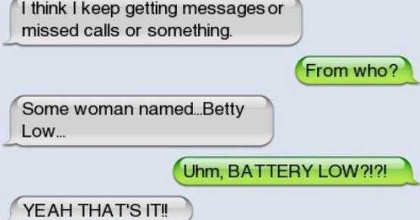 funny mom texts Battery Low