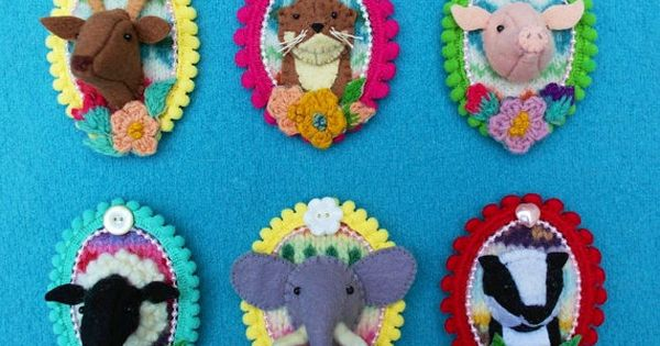 So in love with these felt animal brooches by annie montgomerie artetic pinterest wool by - Wadrop latest design by artetic ...