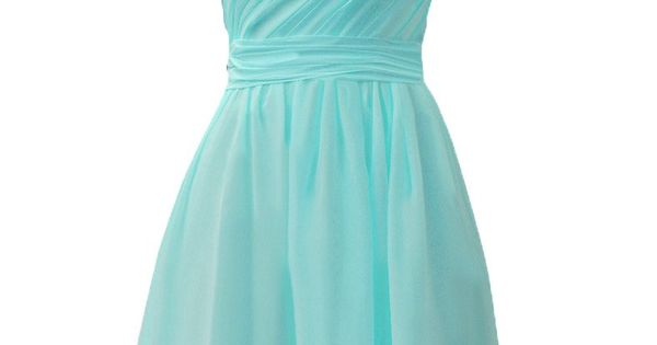 ASBridal One Shoulder Knee-Length Pleated Cheap Short