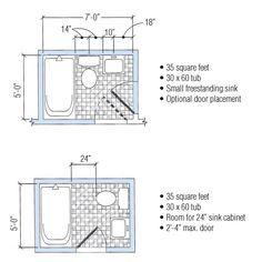 5x7 Bathroom Layout Google Search Small Bathroom Floor Plans
