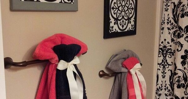 Cute Way To Hang Towels For Guest Bathroom Future Home Pinterest Towels