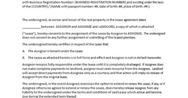 Landlords Consent To Assignment  How To Write An Assignment As A