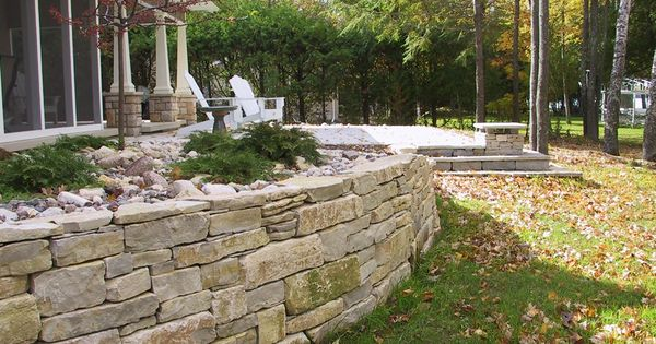 images of door county limestone retaining wall short
