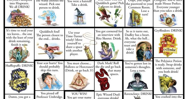 Harry Potter Drinking Game board game