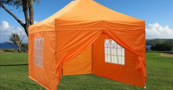 10x15 Pop Up 4 Wall Canopy Party Tent Gazebo Set Ez Orange E Model By Delta Canopies Details Can Be Found By Clicking On The With Images Party Tent Tent Outdoor Gardens