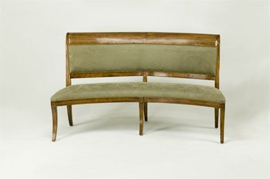 Bausman Co 9894 Upholstered Curved Bench For 3751 Table