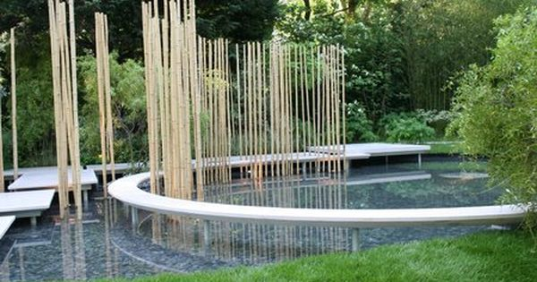 Contemporary Japanese garden design using bamboo modern