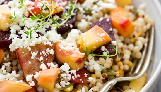 Peach and Roasted Vegetable Salad - yum! - Black Eiffel