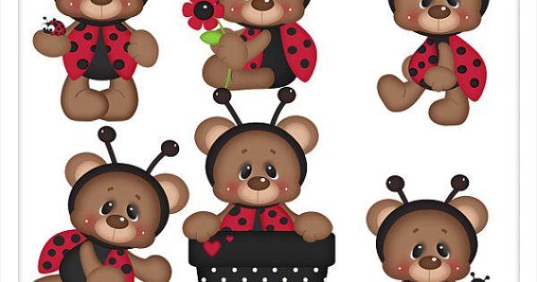 Brownie The Ladybug Teddy Bear PSD Digital By