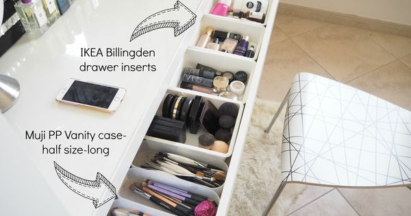 my make up storage vanity bedroom tour expat make up. Black Bedroom Furniture Sets. Home Design Ideas