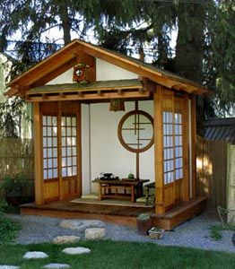Japanese Tea House Posted Bybdg At 6 03 Am Japanese Tea House Japanese Garden Small Japanese Garden