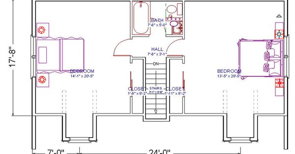 2 bedrooms and 1 bath attic plans for a small cape 2nd for Cape to colonial conversion plans