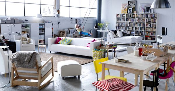 eclectic and creative Ikea loft styled by Hans Blomquist - Great for