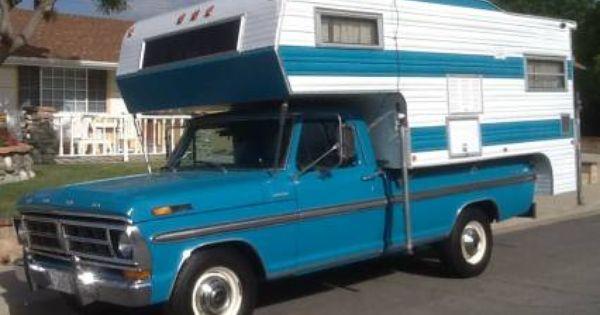 Vintage Ford Ranger Xlt Camper Special W Matching Vintage