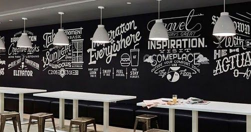 Gambar Dan Tulisan Di Cafe Apalagi Dipadukan Dengan Desain Meja Kursi Yang Luar Biasa Hiasan Di Cafe Ini Hanya Menggunakan Kurs Di 2020 Lukisan Dinding Mural Gambar