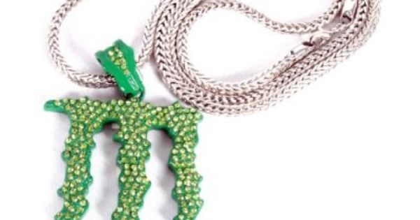 Monster Energy Necklace Out Monster Energy Logo