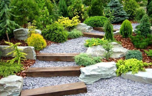 der kies erweist sich als genug haltbar und beständig, um fuß, Gartenarbeit ideen
