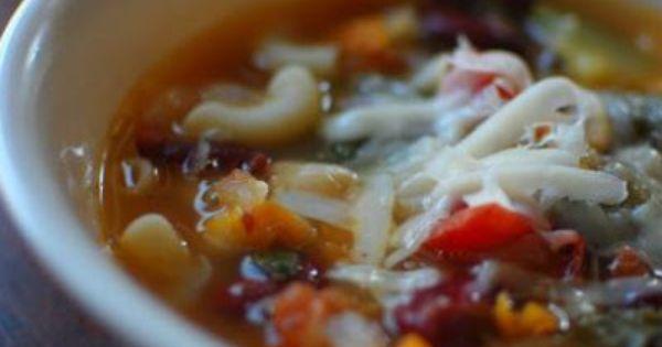 Olive Garden Minestrone Soup   Recipe   Olive Garden Minestrone Soup ...