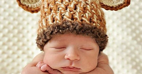 BABY GIRAFFE - Newborn Baby Crochet Giraffe Hat Photo Prop