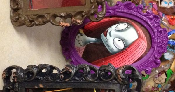DIY framed Nightmare before Christmas tree ornaments. The ...