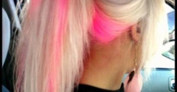 pink highlights! | ranbow hair | Pinterest | Pink ...