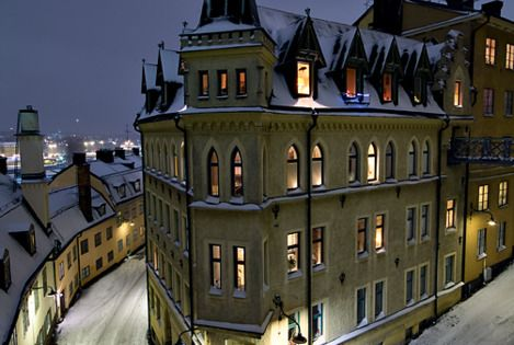 Stockholm, Sweden; I would love to live in this winter wonderland.