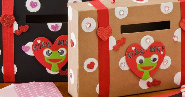 Valentine Card holder out of a cereal box - great for kids