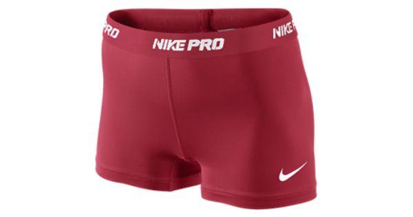 maroon nike pro shorts