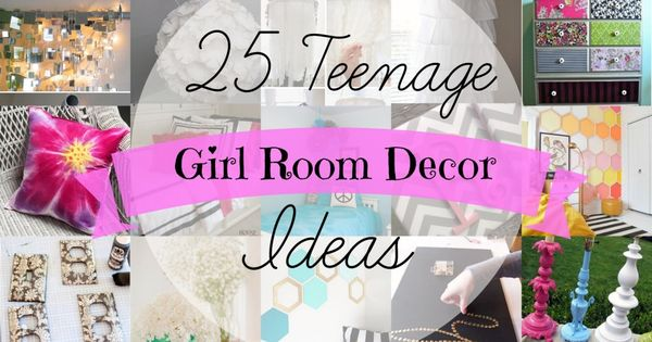 25 teenage girl bedroom ideas. -Some are just really cheap ideas or