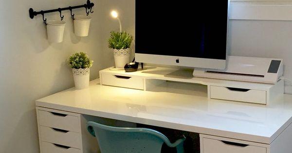 craft room ikea alex linnmon. Black Bedroom Furniture Sets. Home Design Ideas