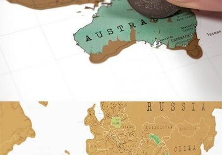 I need this in my life! Scratch off world map, you can scratch off each country as you visit it! This would definitely keep me motivated to see the world! Getting ready to