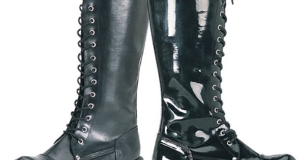 Demonia Ranger 302 Boots Mine are patent leather! Lasts 3 5+