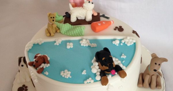 Pet Groomer S Themed Birthday Cake