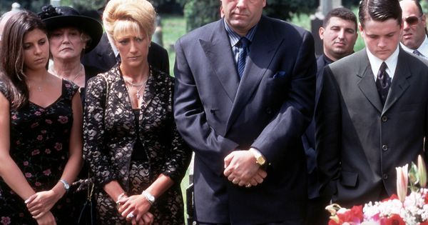 Always at a funeral | The Sopranos | Pinterest | TVs and Tony soprano