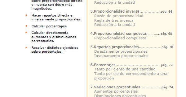 Proporcionalidad Directa E Inversa Proporcionalidad Directa Proporciones Matematicas Actividades De Matematicas