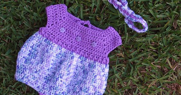 Free Crochet Pattern For Baby Romper : *Free Crochet Pattern: Newborn Romper Baby Set - Craft ...