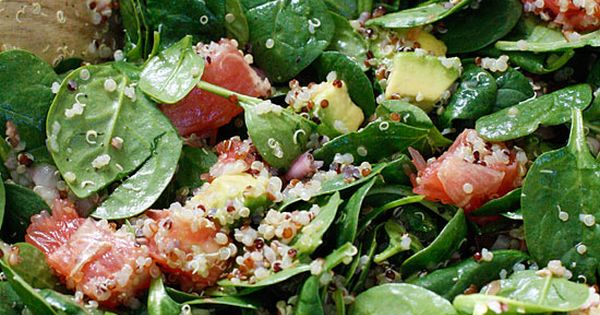 Spinach and Quinoa Salad with Grapefruit and Avocado - Grapefruitsap ...