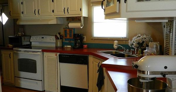 Painting particle board cabinets in mobile home