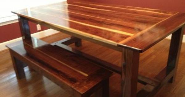 Black walnut farmhouse table plans to build your own at ana outdoor furniture - Ana white kitchen table ...