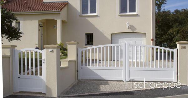 portillon et portail battant zenox contraste finition. Black Bedroom Furniture Sets. Home Design Ideas